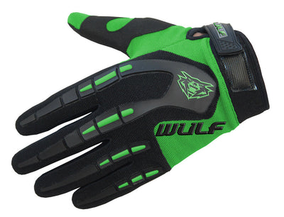 GREEN - WULFSPORT Cub Attack Kids Junior Motorbike Motocross Gloves - MotoX1-Motocross ATV