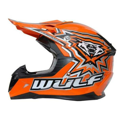 WULFSPORT CUB FLITE-XTRA  KIDS MX HELMET - ORANGE - MotoX1-Motocross ATV
