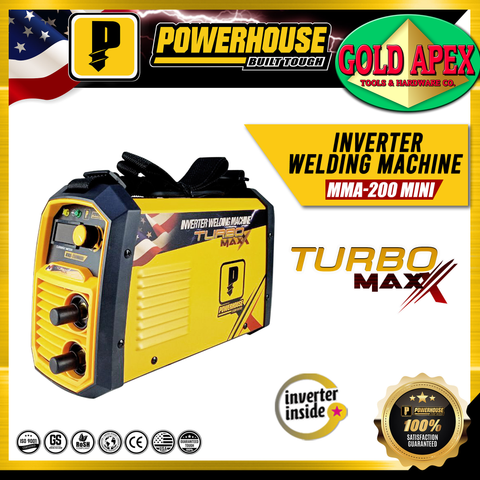 Powerhouse MMA 200A Turbo Maxx DC Inverter Welding Machine