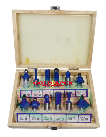 Hoyoma Router Bit Set 1/2 Inches Shank (12 pcs) - goldapextools
