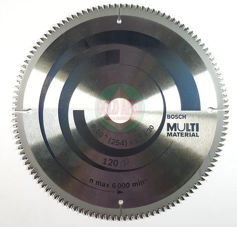 "Bosch Circular Saw Blade 10""x120T Multi Material - goldapextools"