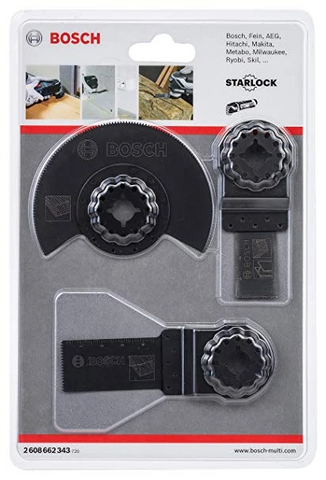 Bosch Starlock Wood & Metal Accessory Kit Set for Oscillating Tools (3pcs) 2608662343