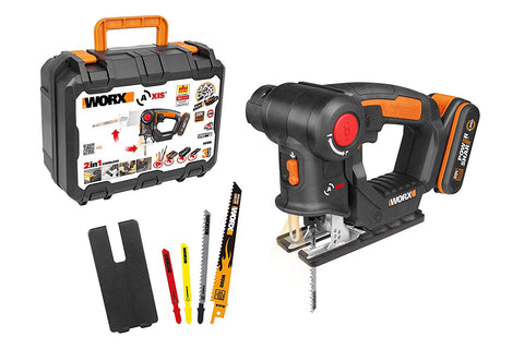 Worx WX550 2in1 Cordless Multi-Purposed Saw 20V Max (Jigsaw | Reciprocating Saw)