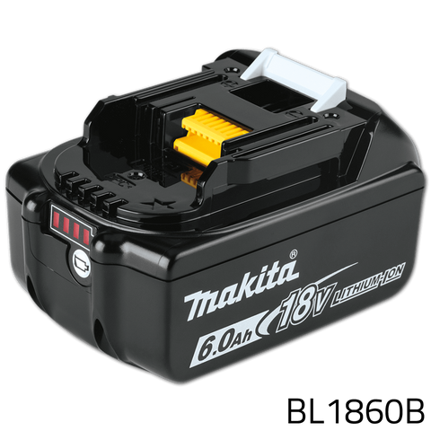 Makita BL1860B 18V 6.0Ah Lithium-Ion Battery (LXT Series)