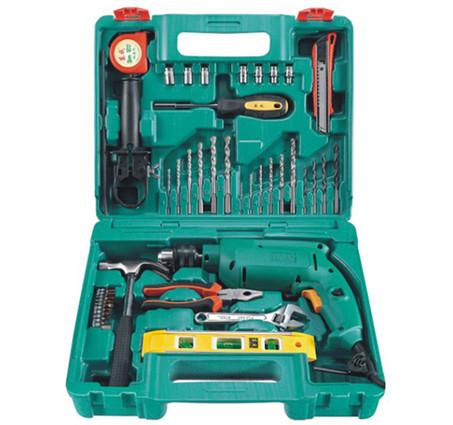 DCA AZJ04-13 Electric Impact Drill Tool Kit - goldapextools