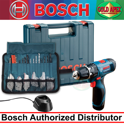 Bosch GSB 120-LI Cordless Impact Drill / Driver (12 Volts) (100pcs Accessories) - goldapextools