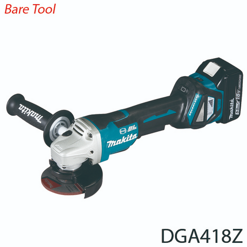 Makita DGA418Z 18V Cordless Brushless Angle Grinder (LXT Series) [Bare Tool]