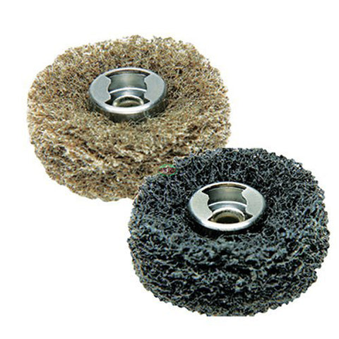 Dremel 511E EZ Lock Coarse Grit and Medium Grit Finishing Abrasive Buffs, 2 pcs - goldapextools