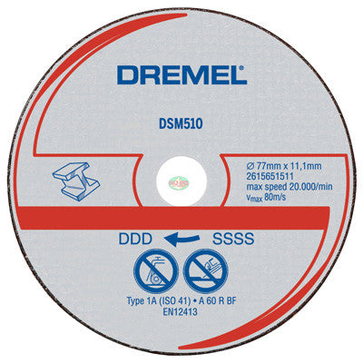 Dremel DSM510C RW Metal Cut-off Wheel, 3 pcs - goldapextools