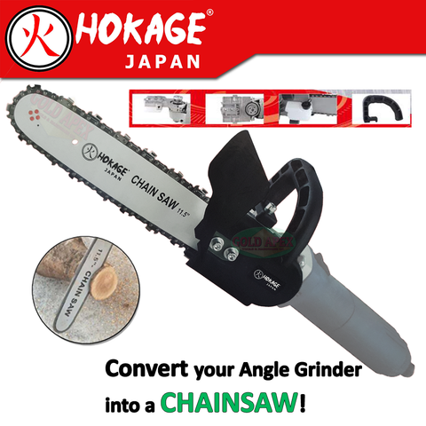 "Hokage Chainsaw Stand Attachment for 4"" Angle Grinder"