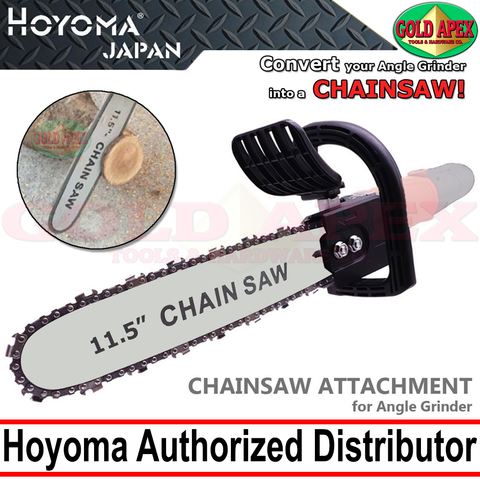 "Hoyoma Chainsaw Stand Attachment for 4"" Angle Grinder - goldapextools"