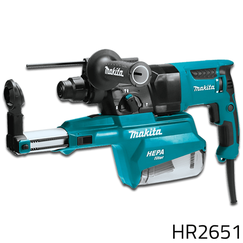 Makita HR2651 Combination Rotary Hammer with Filter Vacuum
