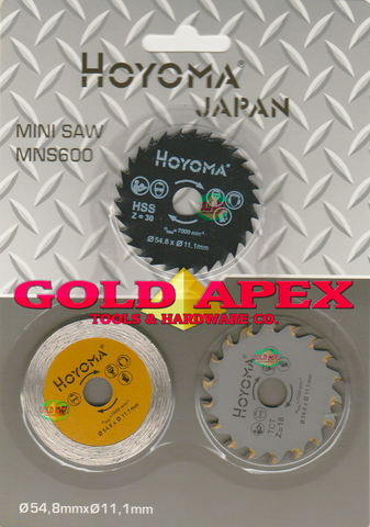Hoyoma Mini Saw Blade Set (3 pcs) *For MNS600 or Rotorazer* - goldapextools