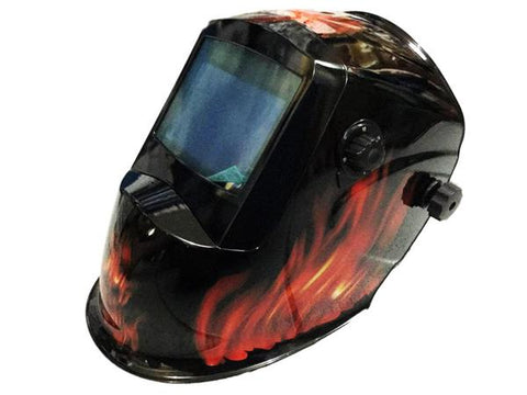 Mitsuden Auto Darkening Helmet Fire Red