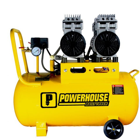 PowerHouse Oil And Noise Less Air Compressor 50 Liters 2HP (2 Motor) (PH-OLESS-50L-2HP)
