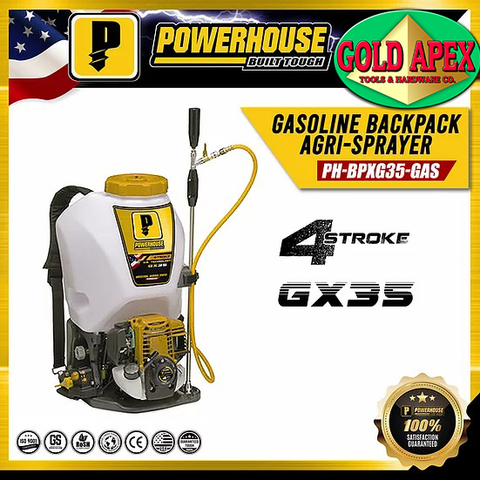 Powerhouse PH-BPGX35-GAS 4-Stroke Engine Powered Knapsack / Backpack Agri-Sprayer