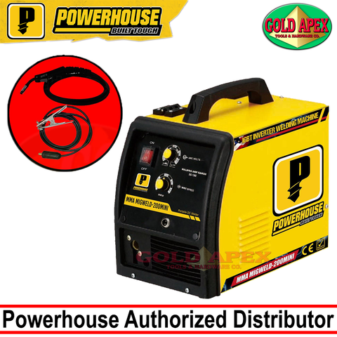 Powerhouse MIGWELD-200 MINI DC Inverter Welding Machine (Fluxcored)