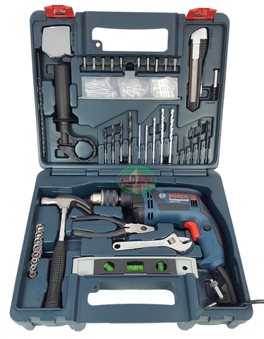 Bosch GSB 13 RE Impact Drill w/ Hand Tools - goldapextools