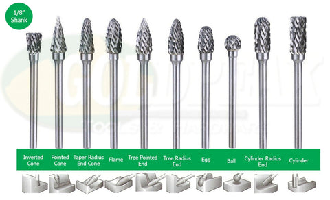 Hoyoma Carbide Burrs / Rotary File Set for Rotary Tool