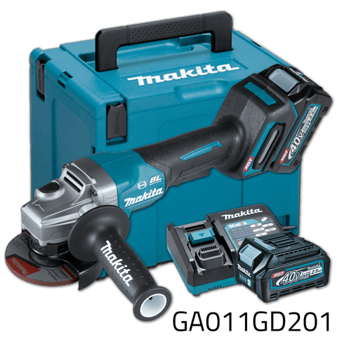 Makita GA011GD201 40V Cordless Brushless Angle Grinder (XGT Series)