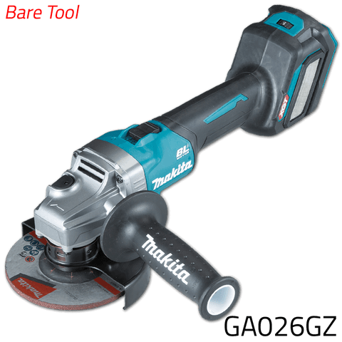 Makita GA026GZ 40V Cordless Brushless Angle Grinder (XGT Series) [Bare Tool]