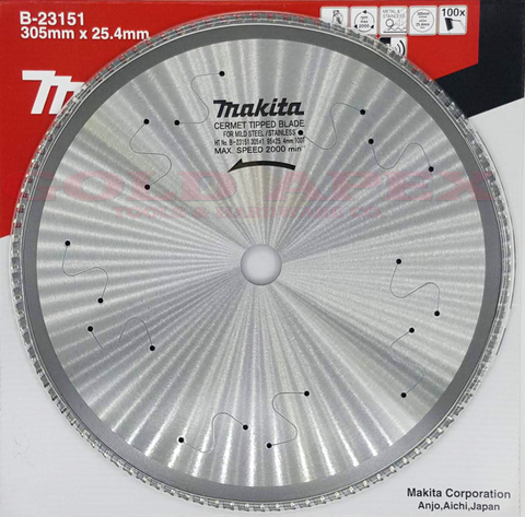 "Makita B-23151 TCT Circular Saw Blade for Stainless 12""x100T (for LC1230)"