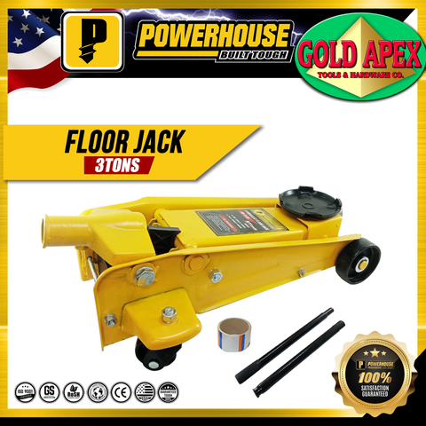 Powerhouse 3 Tons Hydraulic Floor Jack / Crocodile Jack