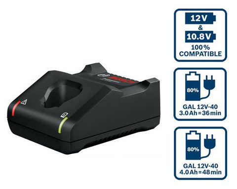 Bosch GAL 12V-40 Fast Charger - goldapextools