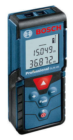 Bosch GLM 40 Laser Distance Measurer (40 Meters) - goldapextools