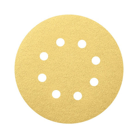 Bosch Velcro Sanding Disc 125mm 100 Grit 50pcs Set - goldapextools