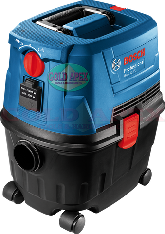 Bosch GAS 15 PS Vacuum Cleaner (w/ Power Socket) - goldapextools