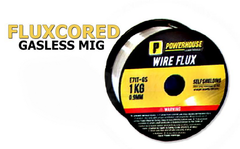 Powerhouse Gasless Self Shielded / Fluxcored MIG Welding Wire (E71T-GS) for Steel