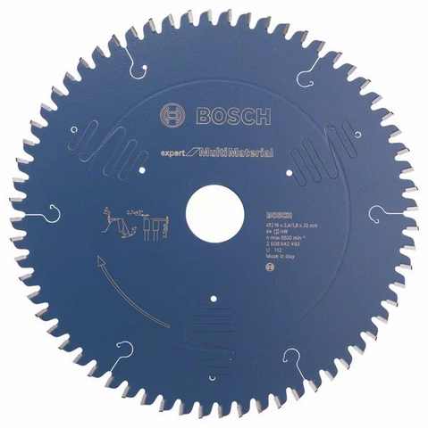 Bosch EXPERT Circular Saw Blade 216mm x 64T Multi Material for GCM 18V-216