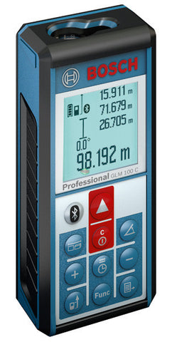 Bosch GLM 100 C Bluetooth Li-ion Laser Distance Measurer (100 Meters) - goldapextools
