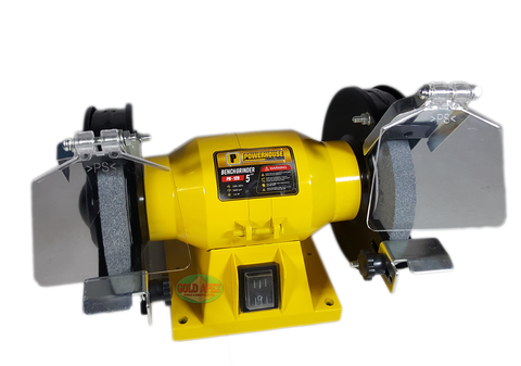 "Powerhouse PH-125 5"" Bench Grinder - goldapextools"