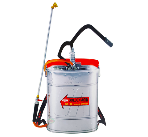 Tung Ho SA-16 Golden Agin Stainless Knapsack Sprayer - goldapextools