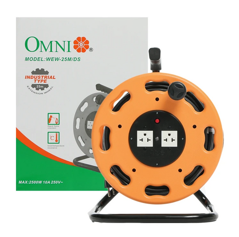 Omni WEW-25 Industrial Extension Cable Reel