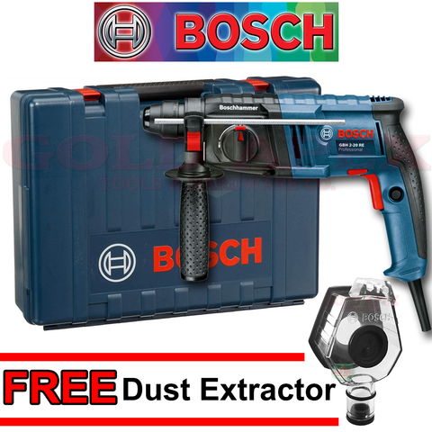 Bosch GBH 2-20 RE Rotary Hammer w/ DUST EXTRACTOR Attachment - goldapextools