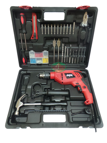 Skil 6613 13mm Impact Drill SMART SET w/ Bit Accessories and Handtools - goldapextools