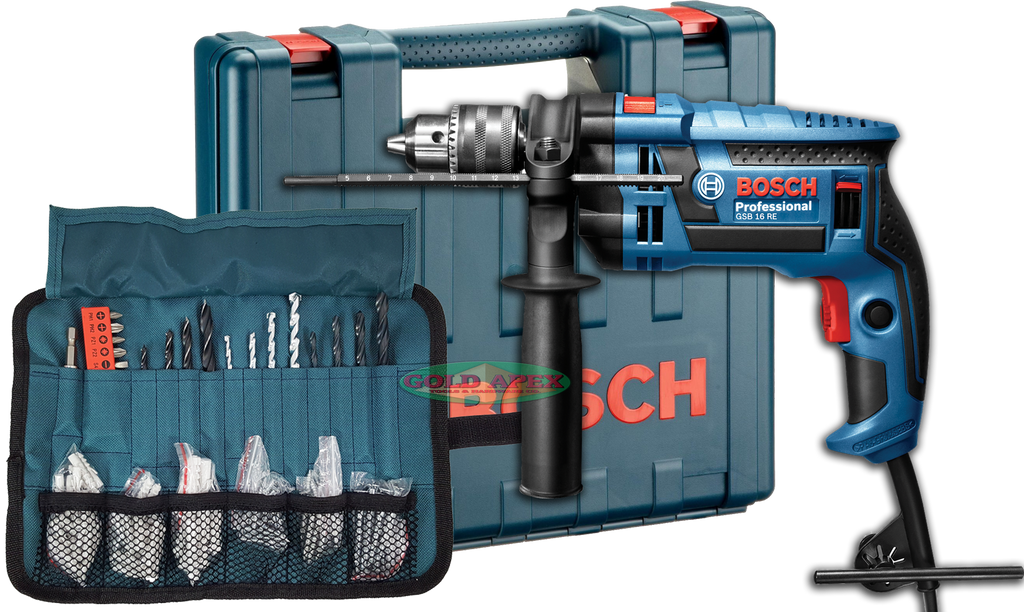 bosch gsb 16 re impact drill w case and accessories goldapextools. Black Bedroom Furniture Sets. Home Design Ideas