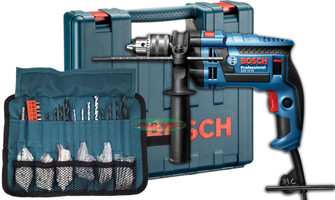 Bosch GSB 16 RE Impact Drill w/ Case and Accessories - goldapextools