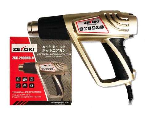 Zekoki ZKK-2000HG-B Hot Air Gun / Heat Gun