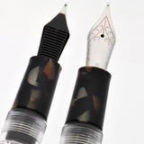 Wancher Crystal Smokey Quartz Fountain Pen - Fine Nib
