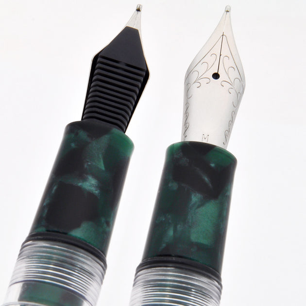 Wancher Crystal Emerald Fountain Pen - Fine Nib