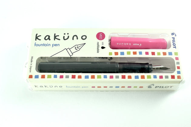 Pilot Kakuno Fountain Pen - Pink with Medium Nib - Skribr - 2