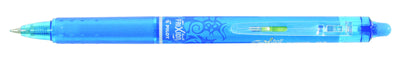 Pilot Frixion Clicker Erasable Gel Pen BLRT-FR7-B Light Blue - Skribr