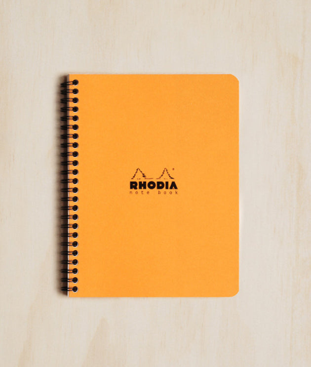 Rhodia - Spiral Bound Notebook - Ruled - A5 - Orange - Skribr