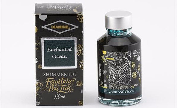 Diamine Shimmering  Ink - Enchanted Ocean - 50 ml - Skribr
