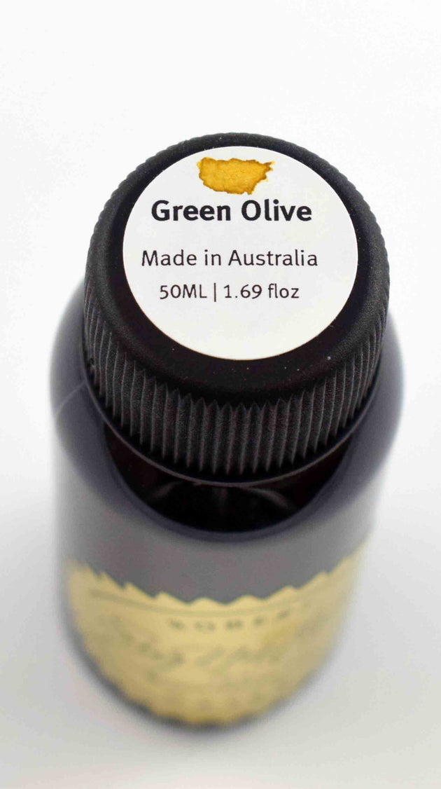 Robert Oster Signature Ink Range - Green Olive - Skribr - 2
