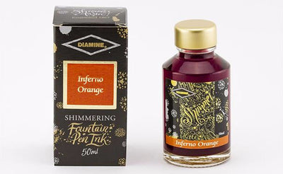 Diamine Shimmering  Ink - Inferno Orange - 50 ml - Skribr